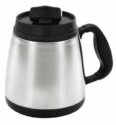 Thermoserv Coffee/Travel 20-Ounce Brushed Stainless Steel Wide Body Mug
