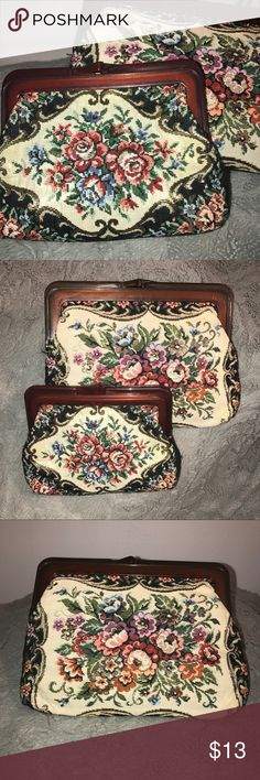 Coin Purses A set of two different sized coin purses. Floral embroidery. Never used. Bags Wallets