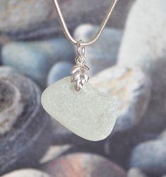 Winter White Sea Glass Ring, Sea Glass Jewelry, Green Pendants, Glass Pendants, Beach Candy, Pretty Green, Aqua Marine, Glass Earrings, Winter White