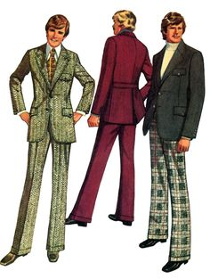1970s Mens Fashion The style in men's suits