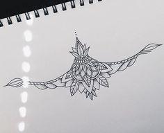 Sternum piece I made for my girl @dready.betty  #tattoo #design #dotwork #linework #sternum #art #artist #artofinstagram