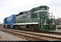 RailPictures.Net Photo: GRLW 3751 Greenville & Western EMD GP9 at Belton, South Carolina by Casey Thomason