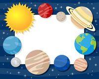 Marco horizontal de los planetas del Sistema Solar