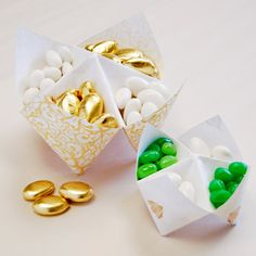 Cool DIY candy holders! Never thought about using a cootie catcher this way!