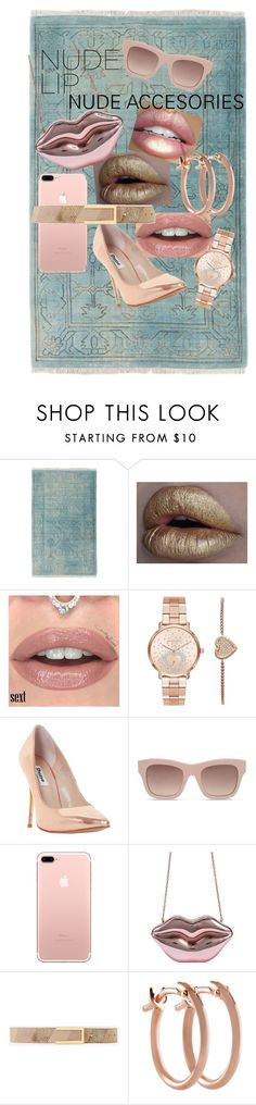 """""""Sparkle in nude"""" by heather-tipton-shearer ❤ liked on Polyvore featuring beauty, Surya, Michael Kors, GET LOST, Dune, STELLA McCARTNEY, White House Black Market and Pori"""