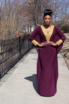 Velove kaftan ( Violet colour ) ~African fashion, Ankara, kitenge, African women dresses, African prints, African men's fashion, Nigerian style, Ghanaian fashion ~DKK: