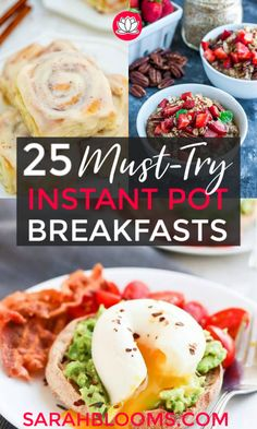 Meal prep these Easy Instant Pot Breakfasts on Sunday for grab-and-go breakfasts all week long! 25 Quick Easy Instant Pot Breakfasts Your Whole Family Will Love - Sarah Blooms Frugal Meals, Quick Meals, Frugal Recipes, Budget Meals, Family Recipes, Freezer Meals, Inexpensive Meals, Cheap Meals, Instant Pot Oatmeal Recipe