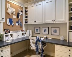 """Love this office!  Would be great to have this much hidden space to organize all of the """"office stuff"""" that I hate having out."""