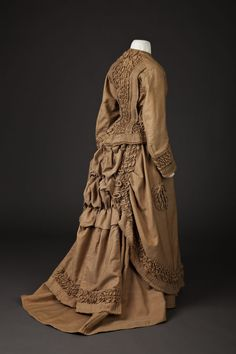 Fripperies and Fobs  Wedding dress, 1876    From the Goldstein Museum of Design