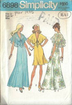 1975 Vintage Patern- wore this in a wedding in a horrible color of pink, no one looked good in that dress