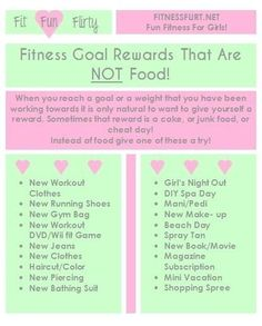 Very cool! Fitness rewards that are NOT food :)