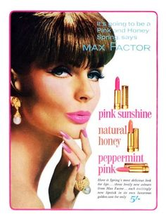Pink Pink Pink max factor ad... Light pink lipstick with olive complexion and thin lips, not a good look!