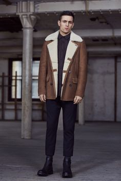 THE XXI COLLECTION.   Wythe Leather Peacoat, Merchant Long Sleeved Shirt, Fagin Trouser and Atlas Boot