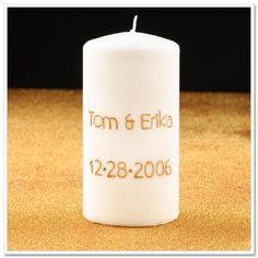 DIY wedding unity candles DIY Engraved Wedding Candle