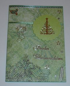 Weihnachtskarte - grün