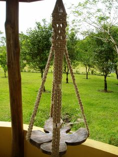 Macrame Hanging Table (note to self: keep in mind for future tree-house...)