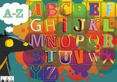 ABC plakkaat vir die klaskamer. Afrikaans, Homeschool, Room Ideas, Neon Signs, Games, Learning, Fun, Kids, Studying