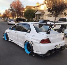 #Mitsubishi #Evo #Wide_Body #Modified #Slammed