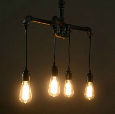 Industrial loft pipe chandelier – Tudo And Co
