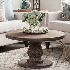 Glass Round Coffee Tables | Wayfair