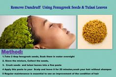 Home #remedies for removing Dandruff
