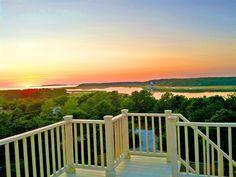 Glorious sunset on the deck! Wellfleet, Cape Cod vacation rental on WeNeedaVacation.com ID 28066