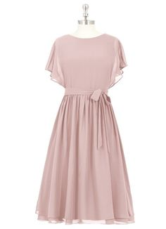 Shop Azazie Bridesmaid Dress - Azazie Alejandra in Chiffon. Find the perfect made-to-order bridesmaid dresses for your bridal party in your favorite color, style and fabric at Azazie. Custom Dresses, Modest Dresses, Short Dresses, Prom Dresses, Dusty Rose Bridesmaid Dresses, Dusty Rose Dress, Bridesmaids, Flower Girl Dresses Country, Baby Girl Dresses