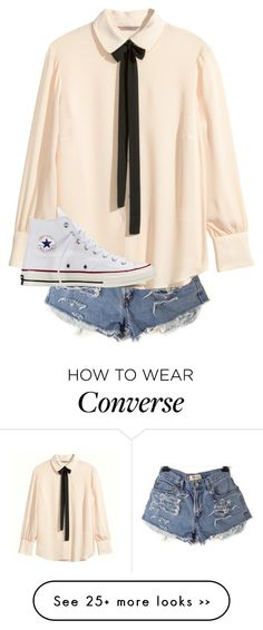 """""""Untitled #550"""" by fashionista4427 on Polyvore featuring H&M and Converse"""