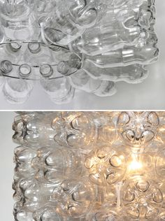 inspiration: Recycled Plastic Soda Bottle Pendant Light