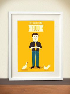 Joey and the food by Meuadoraveliglu on Etsy, $17.00