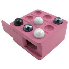 Zoe Travel TicTacToe Board Game with Pink Wood Board and Marble Pieces  3 Inch Set >>> Continue to the product at the image link.