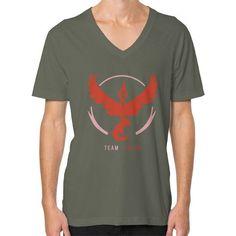 Team Valor V-Neck (on man) shirt