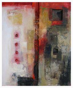 Philippe Rillon. Trame reliquaire, Huile et technique mixte/ toile, 65x54cm,2005.