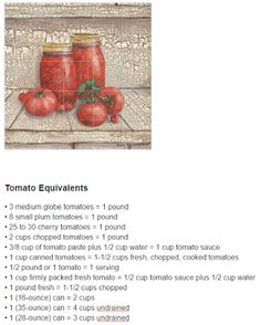 🍏 Safe & Smart Canning Recipes : Helpful Canning Charts