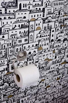 Click the thumbnails below to view gallery of this Cloakroom - Modern Cloakroom Wallpaper, Wallpaper Toilet, Cloakroom Toilet Downstairs Loo, Understairs Toilet, Quirky Wallpaper, Small Toilet Room, Under Stairs Cupboard, Wall Treatments, Bathroom Inspiration