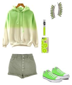 """""""Untitled #292"""" by sweet-strawberry-fairy ❤ liked on Polyvore featuring River Island, Converse, Lime Crime, Casetify and Sidney Chung"""