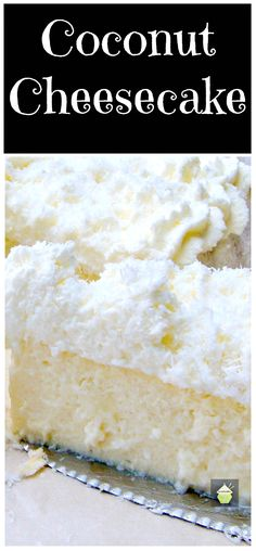 + ideas about Coconut Cheesecake on Pinterest | Cheesecake, Coconut ...