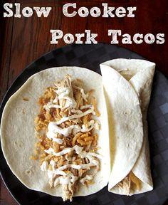 Slow Cooker Pork Tacos #recipe