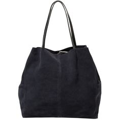 MANGO Suede Shopper Bag ($70) ❤ liked on Polyvore featuring bags, handbags, tote bags, suede purse, black tote bag, shopping bag, shopping tote and black purse