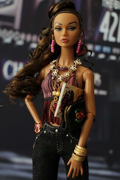 "fuckyeahdollsofcolor: "" Poppy Night Out by nirvanamaruko "" Custom Barbie, Poppy Doll, Fashion Dolls, Fashion Outfits, Diva Dolls, Glamour Dolls, Poppy Parker, Barbie Friends, Barbie World"