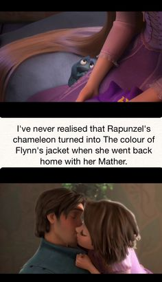 Pascal during all the film was there to highlight her emotions! That's one of the coolest things Funny Disney Memes, Disney Jokes, Disney Facts, Disney Cartoons, Disney And Dreamworks, Disney Pixar, Disney Characters, Disney Rapunzel, Princess Disney