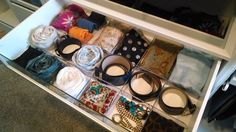 Use the KOMPLEMENT clear divider to corral everything from scarves to belts to socks Spare Bedroom Closets, Dream Closets, Home Bedroom, Bedrooms, Ikea Pax Wardrobe, Ikea Closet, Tie Organization, Organizing Ideas, Ikea Pax Hack