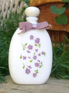 Vintage Avon Lavender Perfume Bottle Milk by SheilasBlessings, $3.00