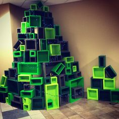 Box Christmas Trees 2012 - this dude's great with stage & prop design.