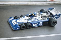 Well That Didn't Work: The Crazy Plan to Bring 6-Wheeled Cars to F1. Ronnie Peterson drives the #3 Elf Team Tyrrell Ford P34 six wheeler during practice for the Grand Prix of Monaco on 21 May 1977.