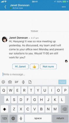 Envoyer un message vocal dans la messagerie de Linkedin sur mobile