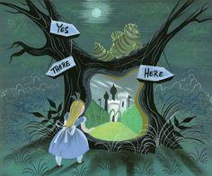 Mary Blair's concept art for Walt Disney's Alice. - The Disney Elite Mary Blair, Alice In Wonderland 1951, Adventures In Wonderland, Illustrations, Illustration Art, Glenn Arthur, Walt Disney, Disney Artwork, Disney Drawings