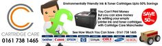 Cartridge Care Manchester Supplies Toner Cartridges Manchester To Businesses and Individuals in Greater Manchester - Free Same Day Delivery