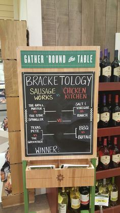 It's Bracketology!! Chicken vs Sausage...who will win??