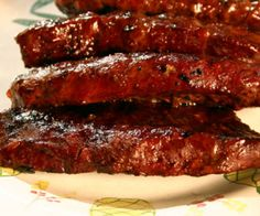 Hawaiian Sirloin Steak-- cooked marinade that needs to cool, marinade steaks for 4 hours then grill. Yum.
